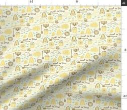 Sweet As Honey Summer Kitchen Decor Bee Hive Fabric Printed