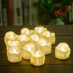 Timer Candles, 12pcs PChero Battery Operated LED Decorative