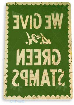 TIN SIGN S & H Green Stamps Rustic Metal Décor Art Kitchen