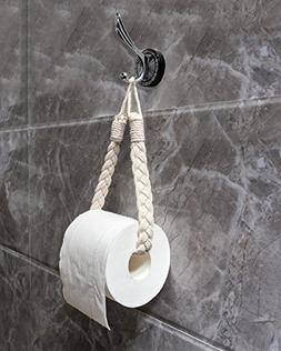 Mkono Self Adhesive Toilet Paper Holder 2 Pack Tissue Roll D