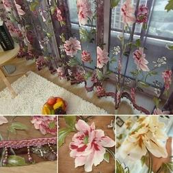 Transparent Butterfly Lace Kitchen Cafe Floral Voile Pastora