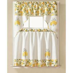RT Designers Collection Urban Embroidered Tier & Valance Kit