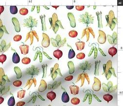 Vegetables Veggies Food Kitchen Decor Fabric Printed by Spoo