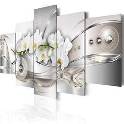 Vibrant Flower Pearl Orchids Canvas Wall Art Modern Decor 5