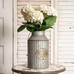 Vintage Industrial Farmhouse Chic Flowers and Plants Can wit