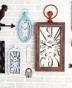 Vintage Wall Clocks Antique Designed Accent Piece Home Kitch