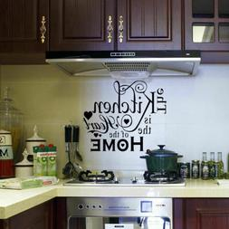 Vinyl Kitchen Rules Room Decor Art Quote Wall Decal Stickers