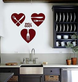 Vinyl Wall Decal Kitchen Decor Food Restaurant Cafe Chef Coo