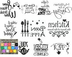 Wall art stickers for kitchen, removeable Home decor, qualit
