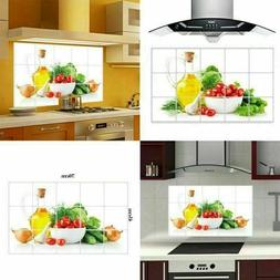 Wall Paper Kitchen Decor Anti Oil Self Adhesive Waterproof S