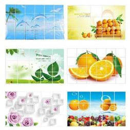 Wall Paper Kitchen Decor Anti Oil Self Adhesive Mosaic Water