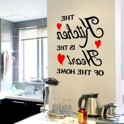 Wall Stickers Home Decor Letter Decals The Kitchen Is the He