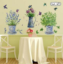 wall stickers home decor potted flower pot