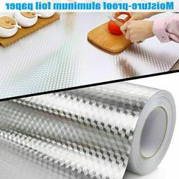 Waterproof Oil Proof Aluminum Foil Self Adhesive Wall Sticke