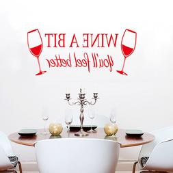 WINE A BIT Removeable Home Decor Art Wall Sticker Dinning Ki