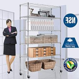 Wire Shelving Unit NSF Heavy Duty Office Bathroom Kitchen Ad