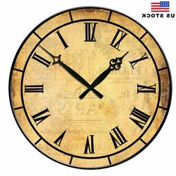 Wooden Wall Clocks Room Home Store Kitchen Decorative Large